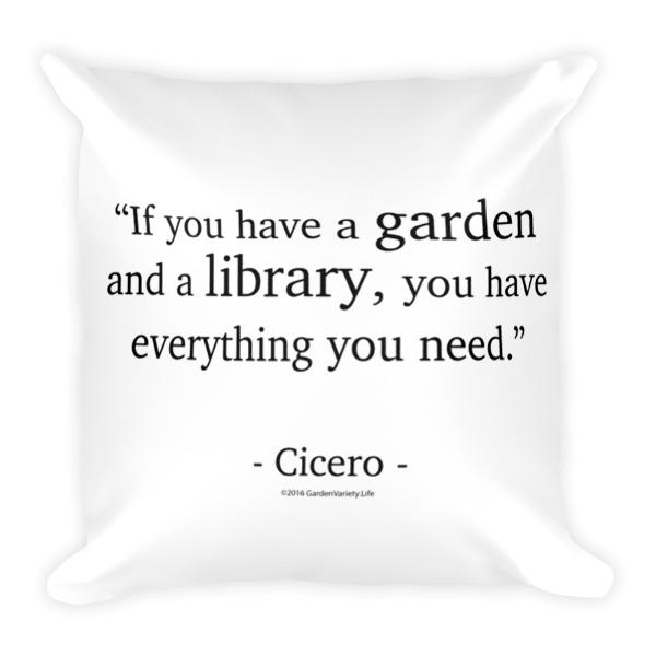 """Cicero"" Pillow"