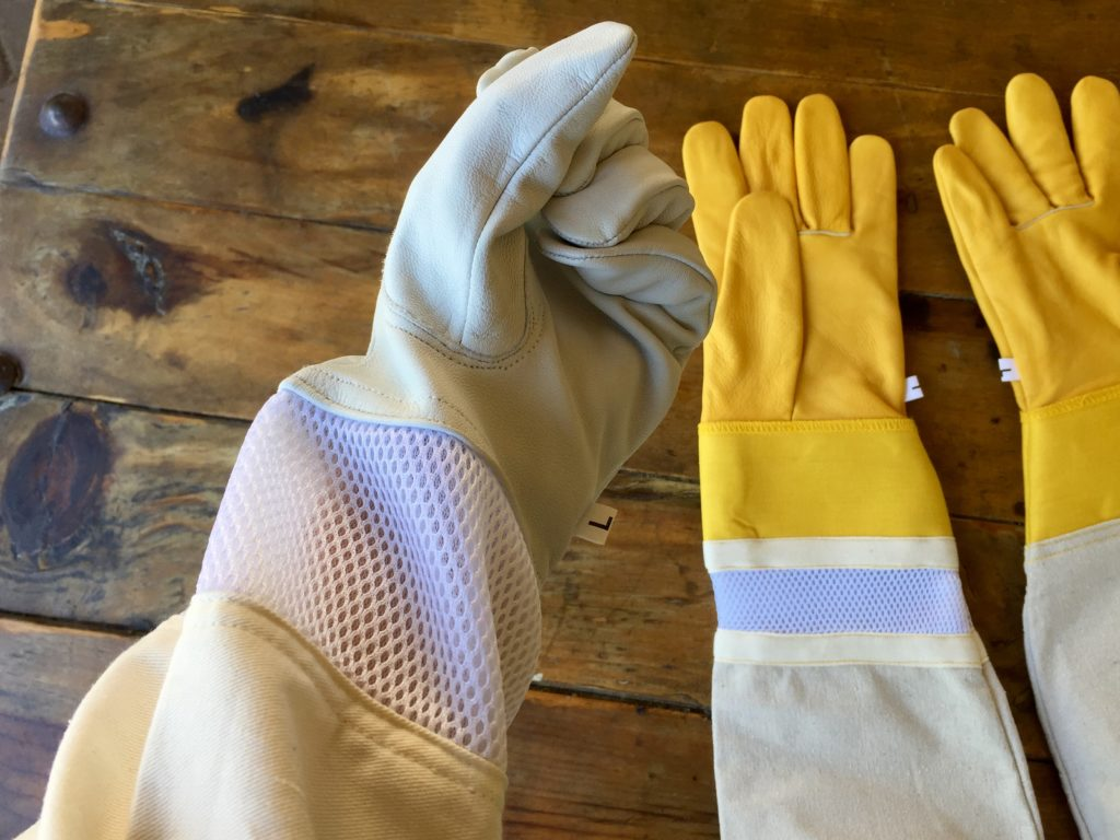 Beekeeping gloves, white fist
